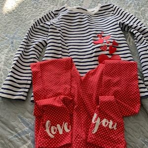 Girls love you shirt with matching leggings!